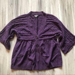 Apt. 9 Peplum Style Half Sleeve Cardigan
